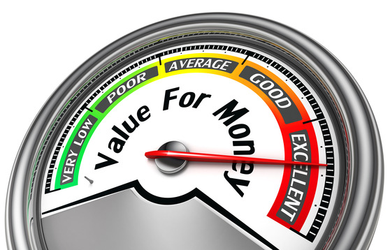 value rof money conceptual meter