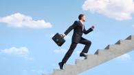 Business Man Up Steps